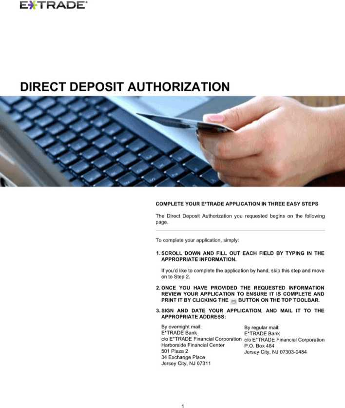 Download New Jersey Direct Deposit Form 2 for Free - TidyTemplates