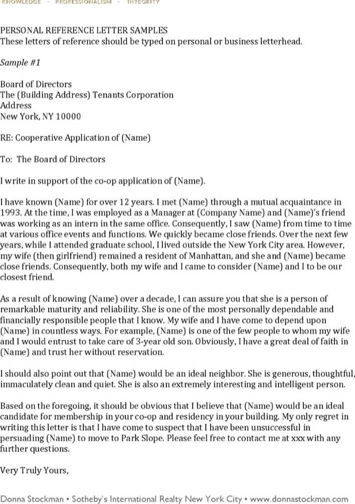 Download Personal Recommendation Letter Template Free Pdf Format for