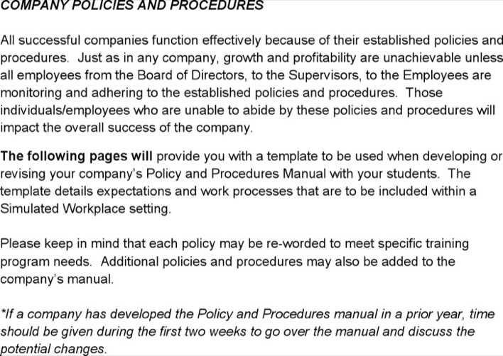 Download Policy Procedure Template Word for Free - TidyTemplates