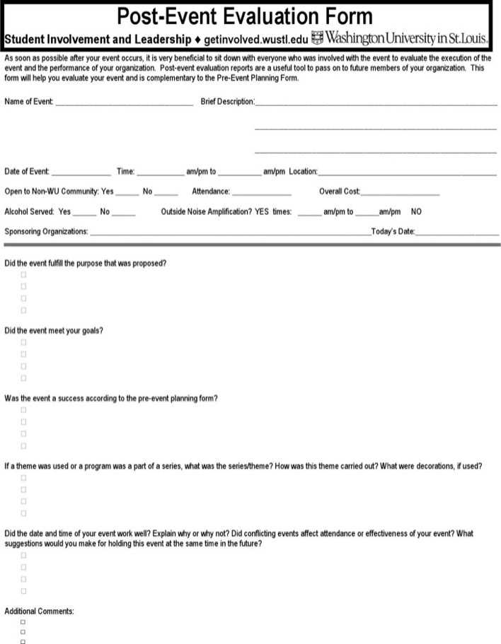 Download Post Event Evaluation Form for Free - TidyTemplates