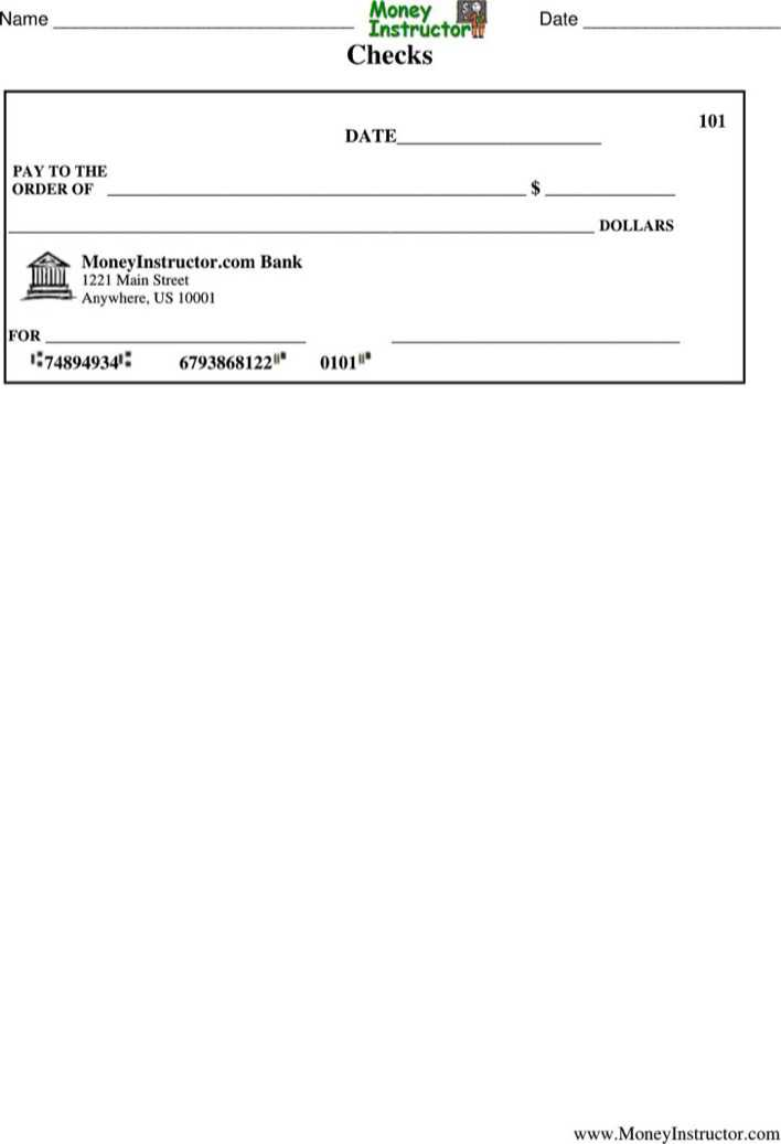 Download Printable Blank Check Template Pdf Format for Free