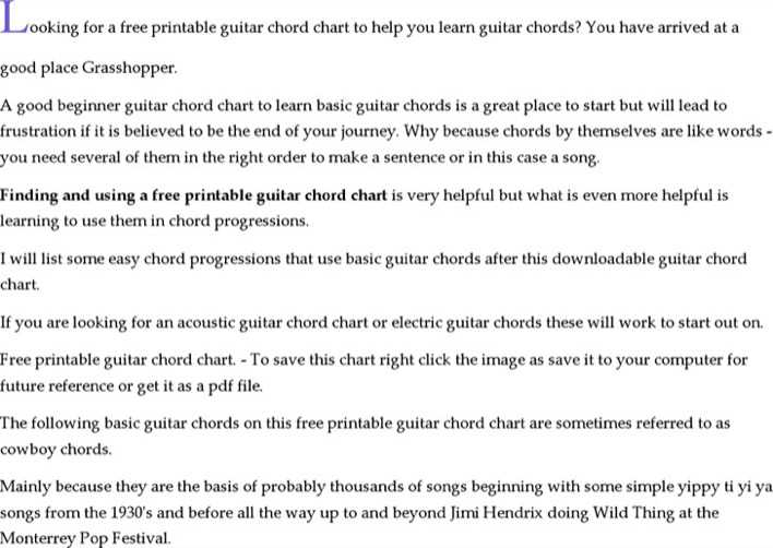 Download Printable Guitar Chord Chart Template for Free - TidyTemplates