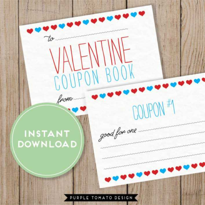 Download Printable Valentine\u0027s Day Blank Coupon Template for Free