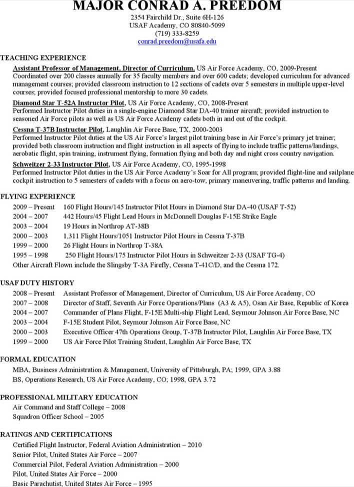 Download Professional Pilot Resume for Free - TidyTemplates