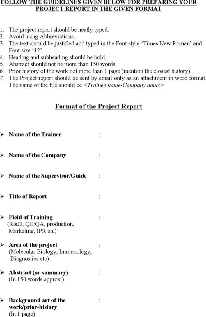 Download Project Report Template Word for Free - TidyTemplates