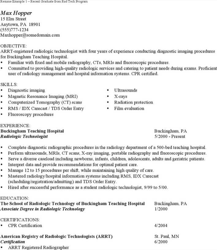 Download Radiologist Assistant Resume for Free - TidyTemplates