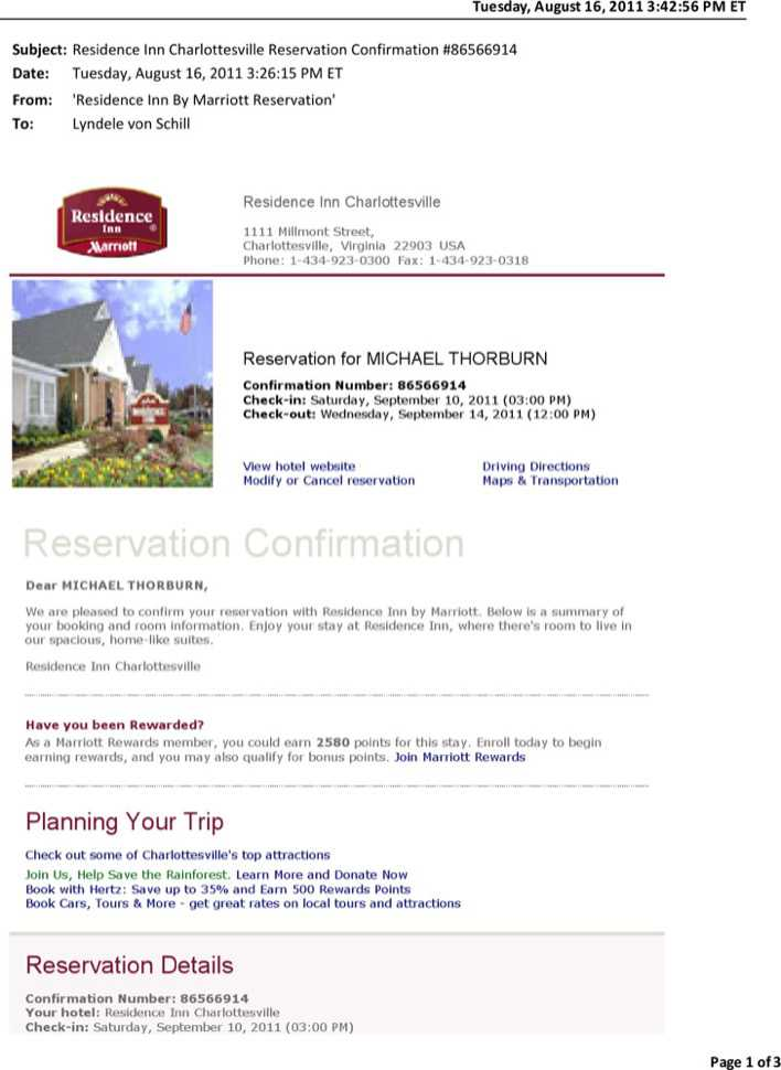 Download Reservation Confirmation Email Template for Free