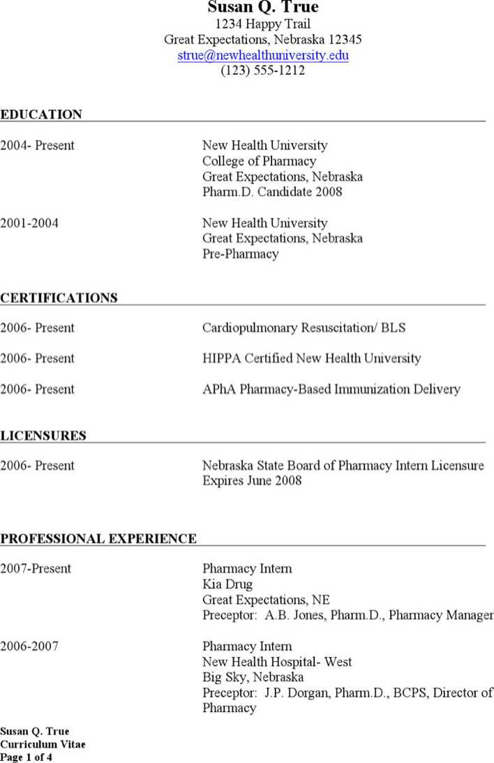 Download Retail Pharmacist Resume for Free - TidyTemplates