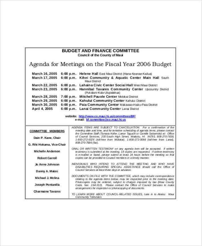 meetings agenda - Kubrakubkireklamowe