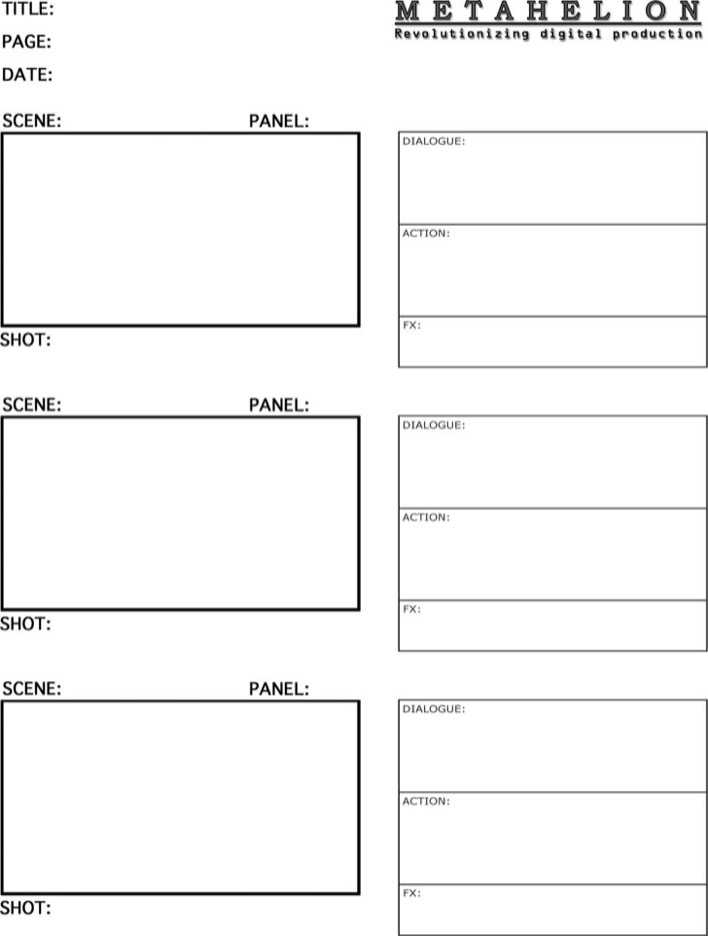 Download Sample Commercial Storyboard Template Pdf Free Download for