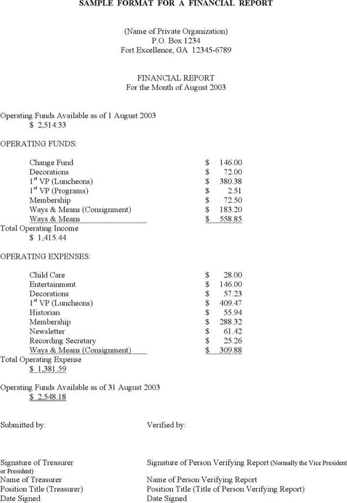 Download Sample Financial Report Template for Free - TidyTemplates