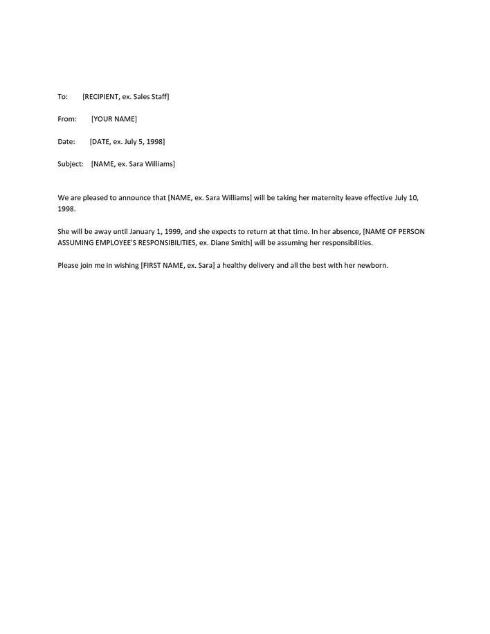 Download Sample Maternity Leave Resignation Letter for Free
