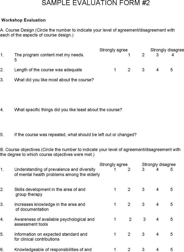 Download Sample Program Evaluation Form for Free Page 3