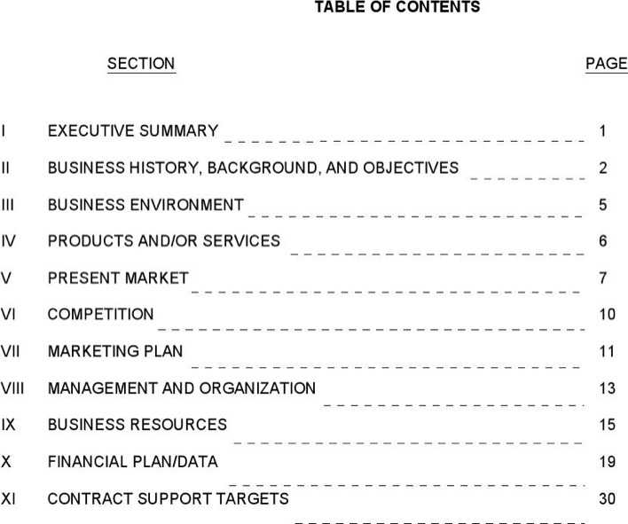 Download SBA Business Plan Template 3 for Free Page 2 - TidyTemplates
