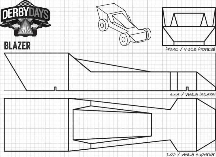 Download Screamer Derby Days Car Template PDF Printable for Free