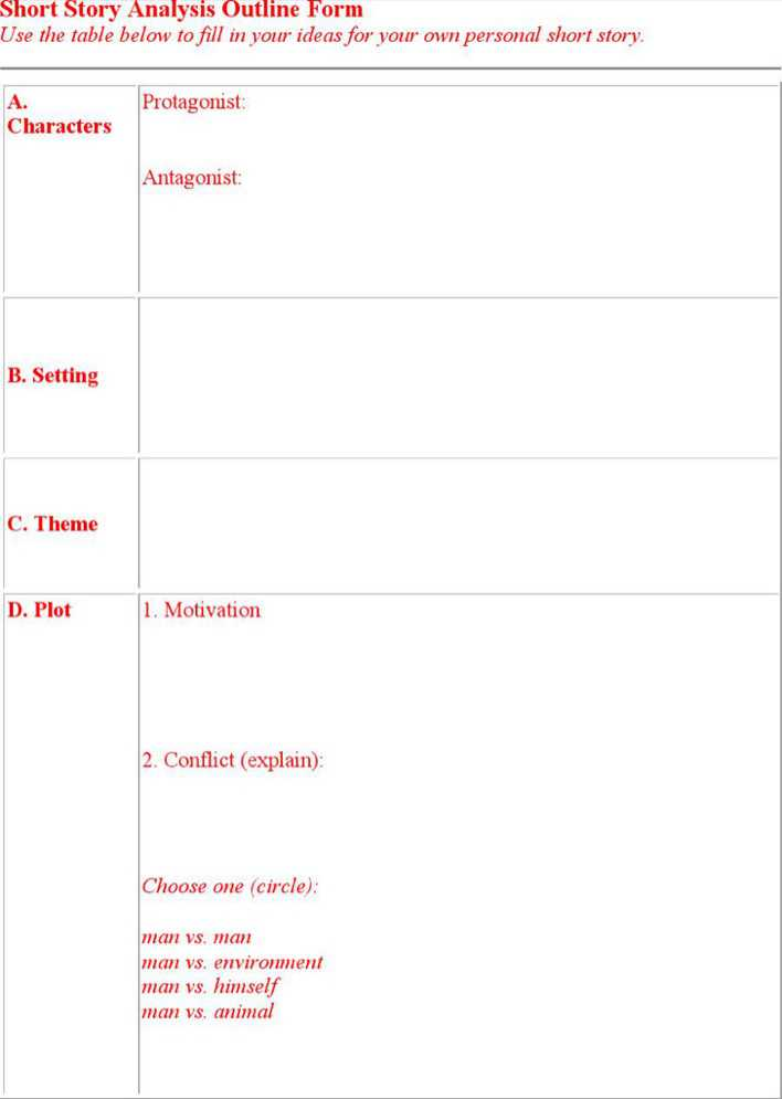 Download Short Story Outline Template for Free - TidyTemplates