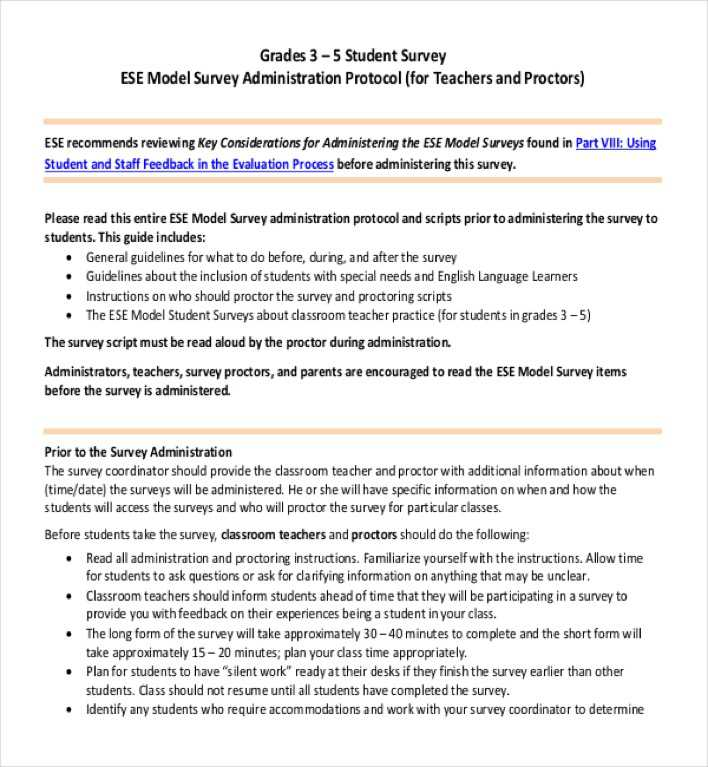 Download Student Survey for Classroom Teachers for Free - TidyTemplates