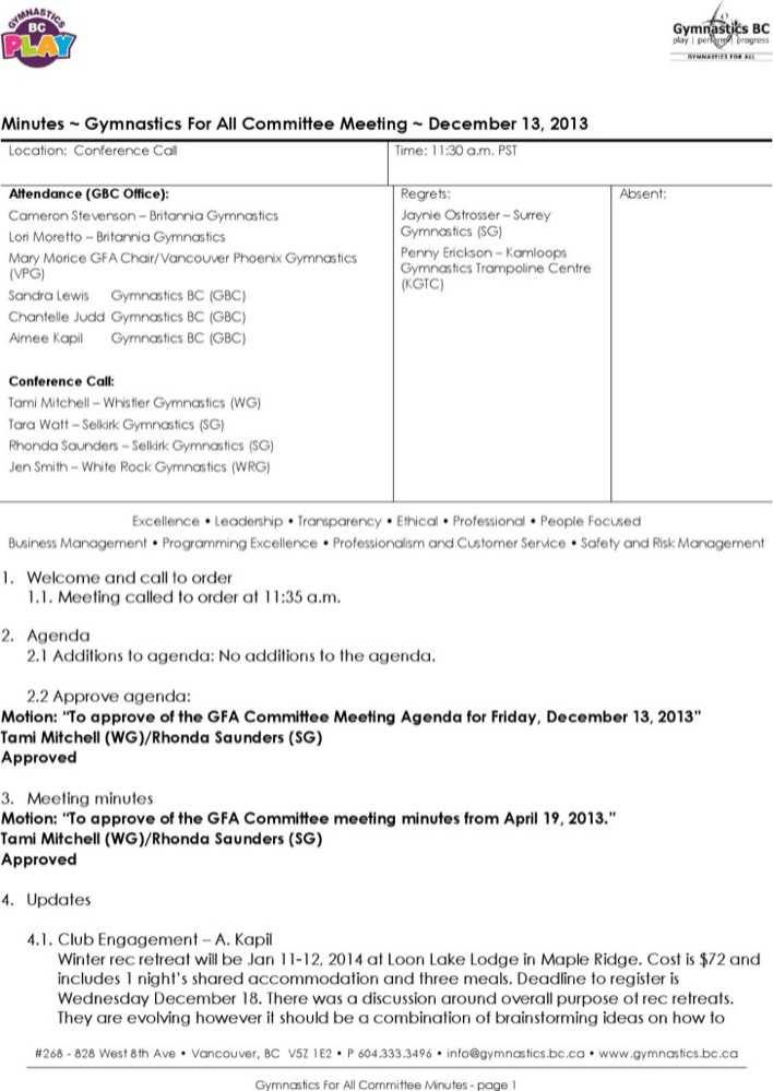 Download Technical Committee Meeting Agenda Sample for Free