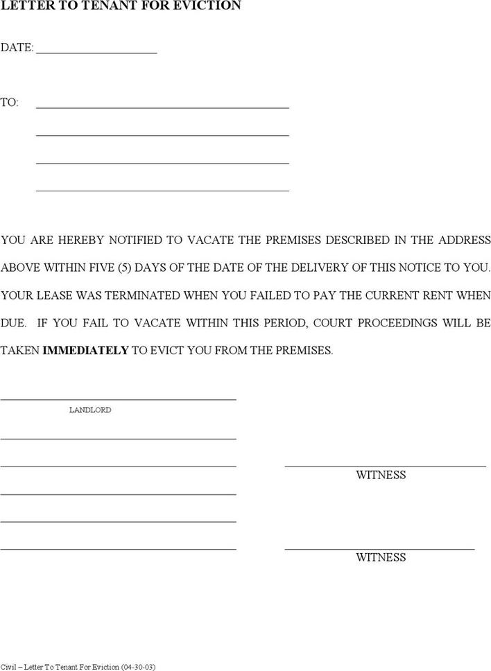 Download Tenant Eviction Notice Letter for Free - TidyTemplates