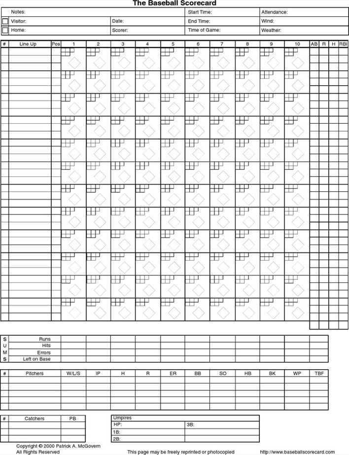Download the Baseball Scorecard for Free - TidyTemplates