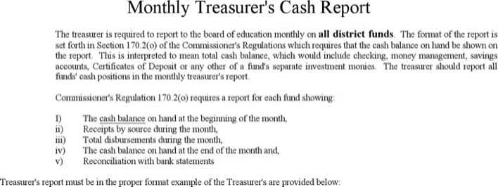 Download Treasurer Report Template for Free - TidyTemplates