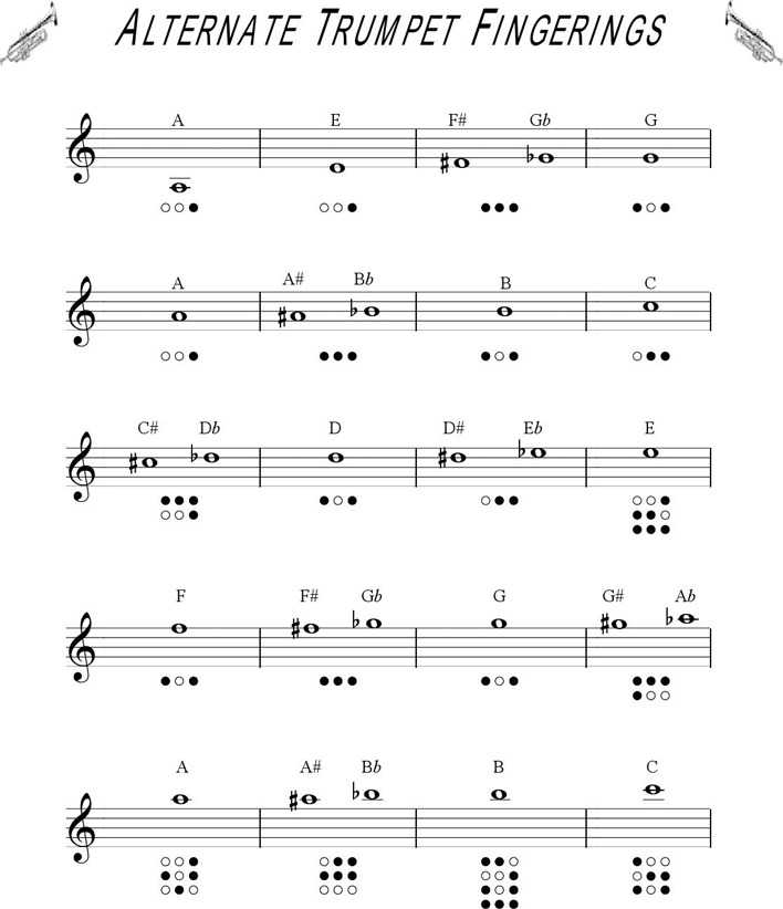 Download Trumpet Fingering Chart 1 for Free Page 2 - TidyTemplates