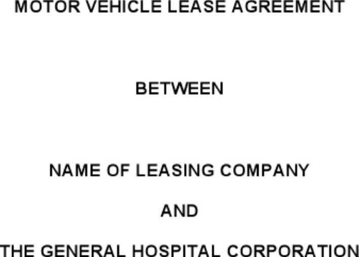 Download Vehicle Lease Agreement Template Free Word for Free