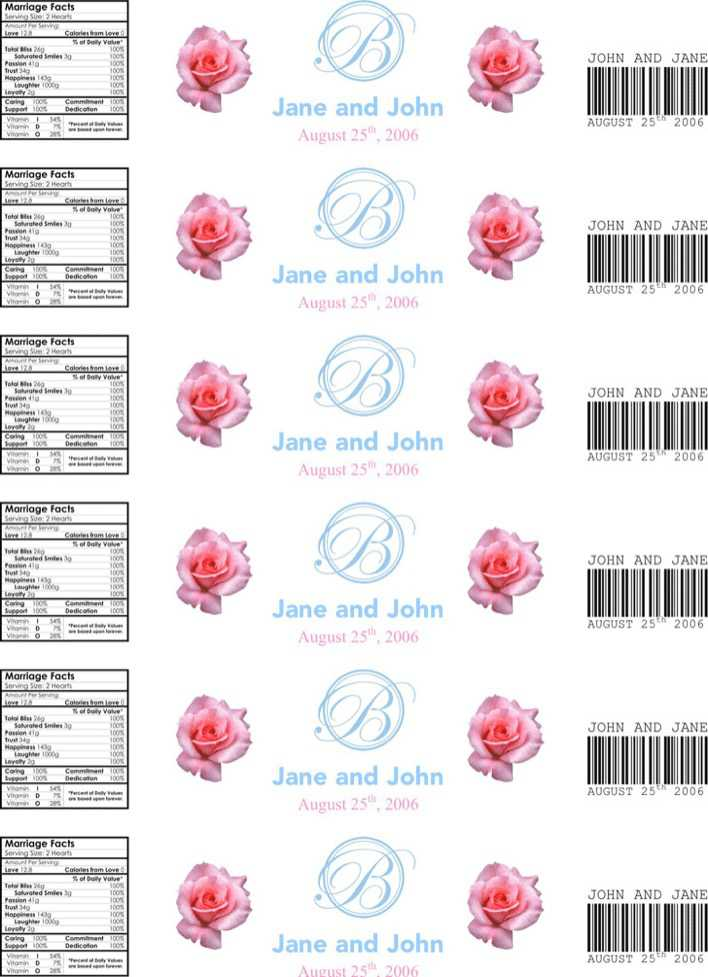 Download Water Bottle Label Template 3 for Free - TidyTemplates