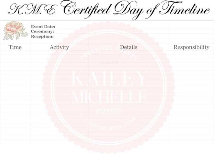 Download Wedding Day Timeline Template for Free - TidyTemplates