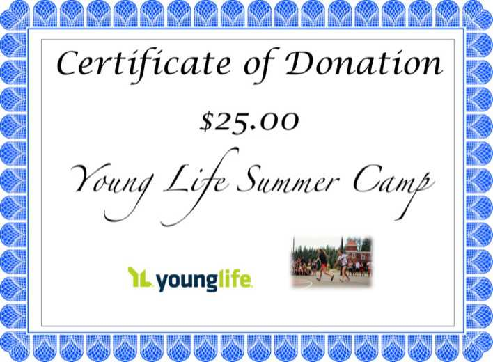 Download Woodleaf Camp Donation Certificate Template for Free