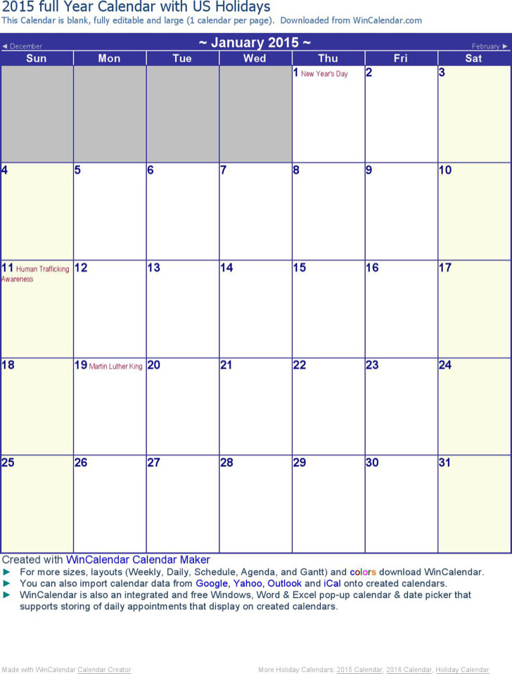29+ Microsoft Calendar Templates Free Download
