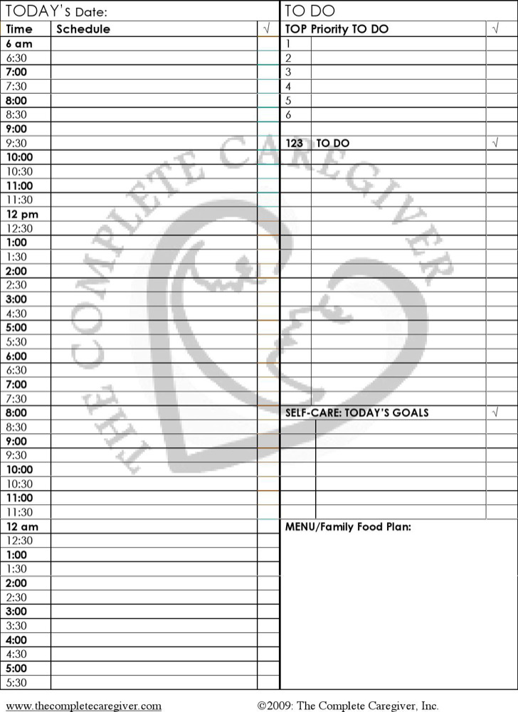 8+ 24 Hours Schedule Template Free Download