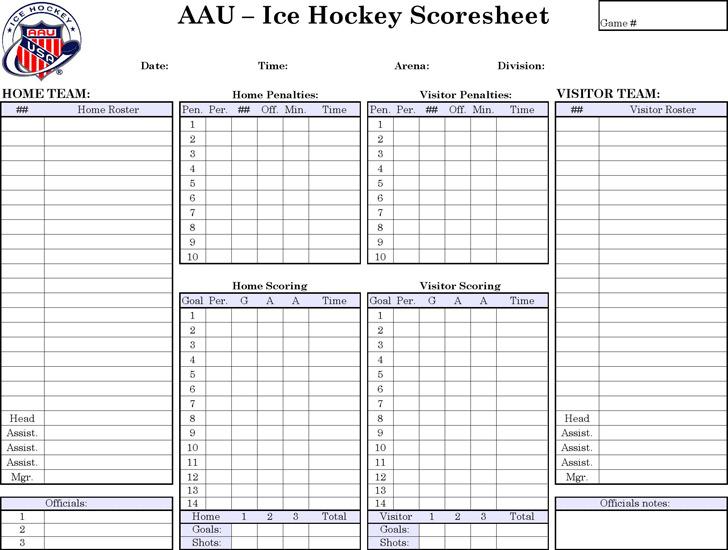 Download Hockey Score Sheet for Free - TidyTemplates - hockey score sheet