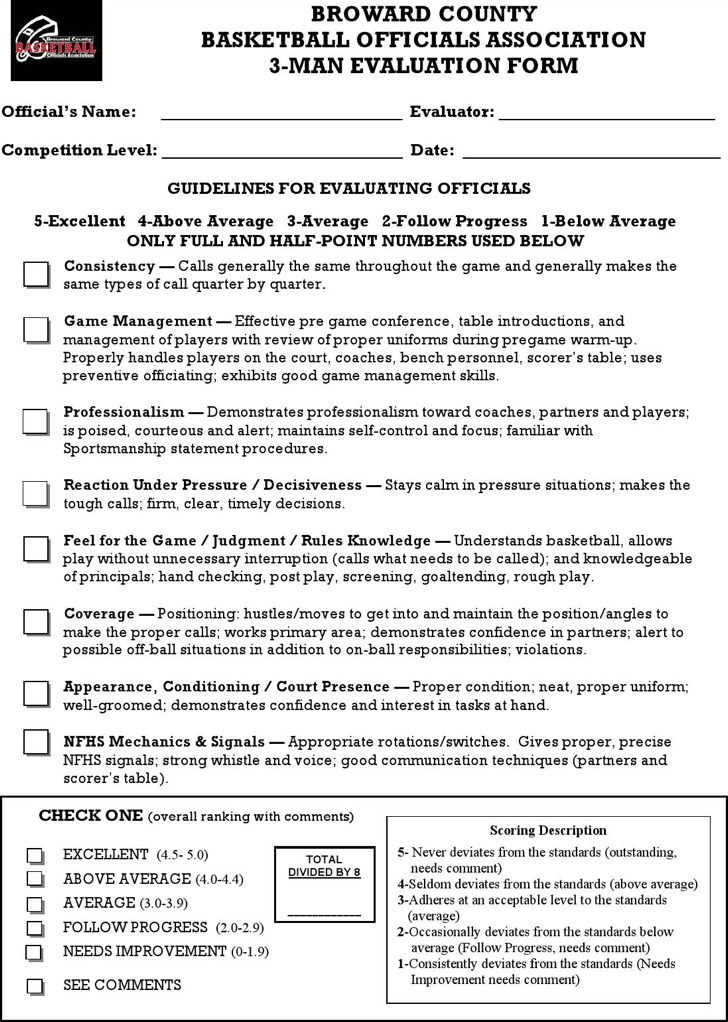 12+ Free Basketball Evaluation Forms Free Download