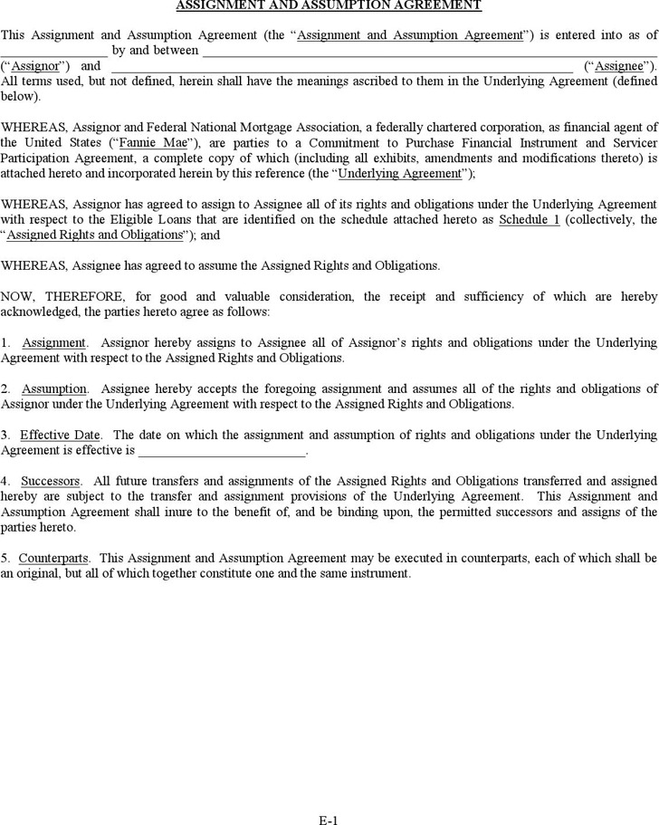 3+ Assignment Agreement Template Free Download