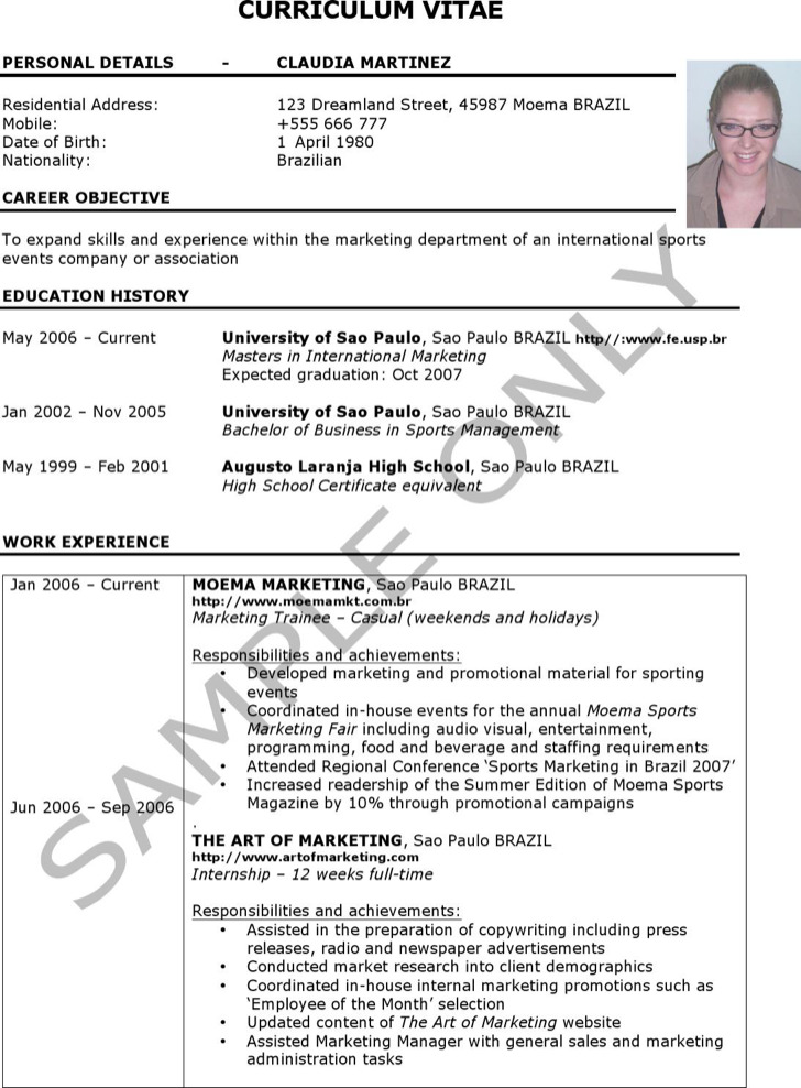 5+ Marketing Coordinator Resume Templates Free Download