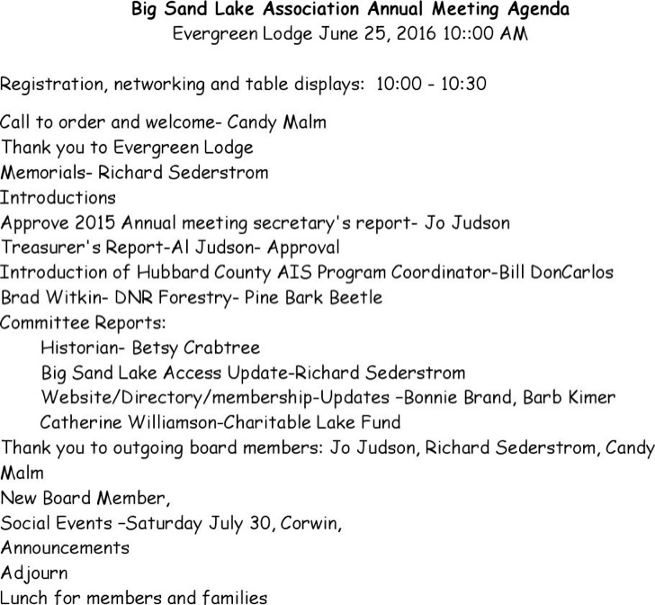8+ Annual Meeting Agenda Templates Free Download