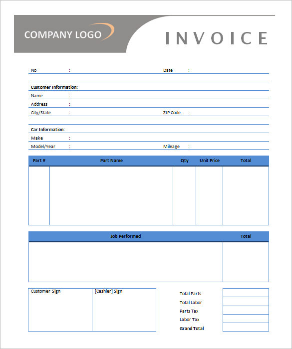 28+ Microsoft Invoice Template Free Download