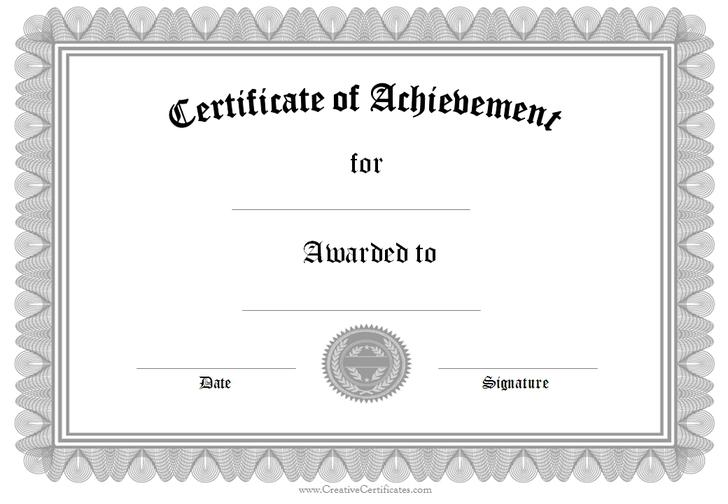 Download Free Printable Certificate Templates for Free - TidyTemplates