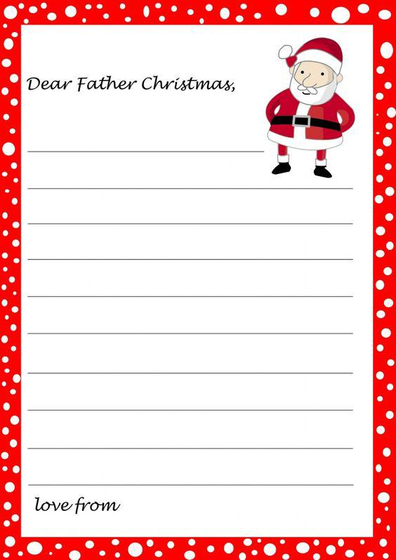 Download Blank Christmas Letter Template Download for Free