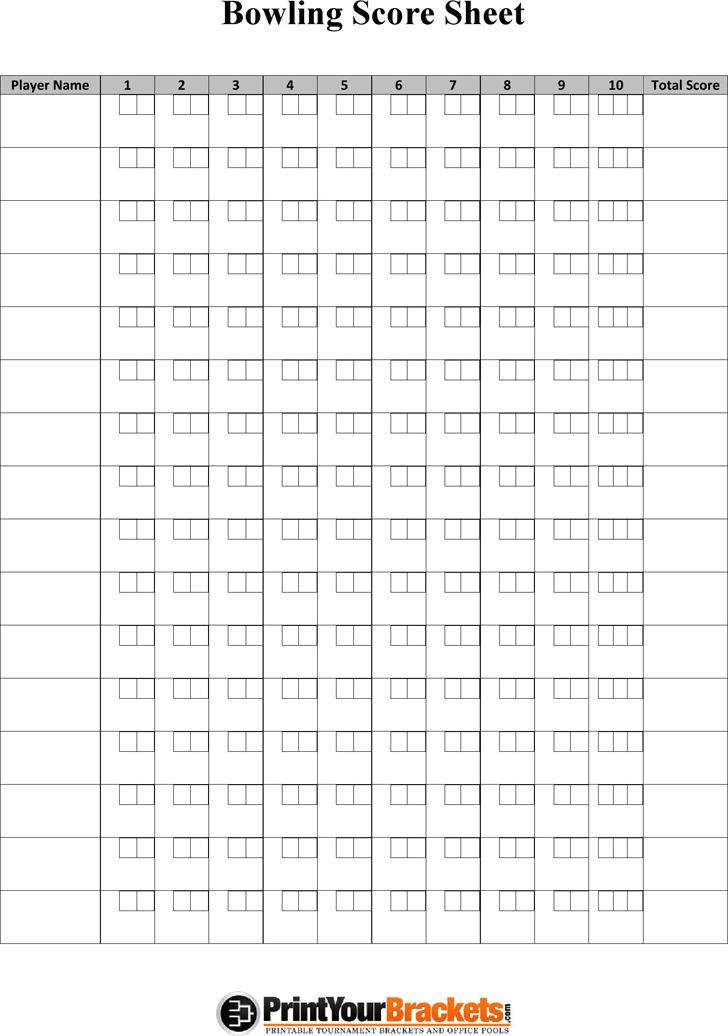 3+ Bowling Score Sheet Free Download