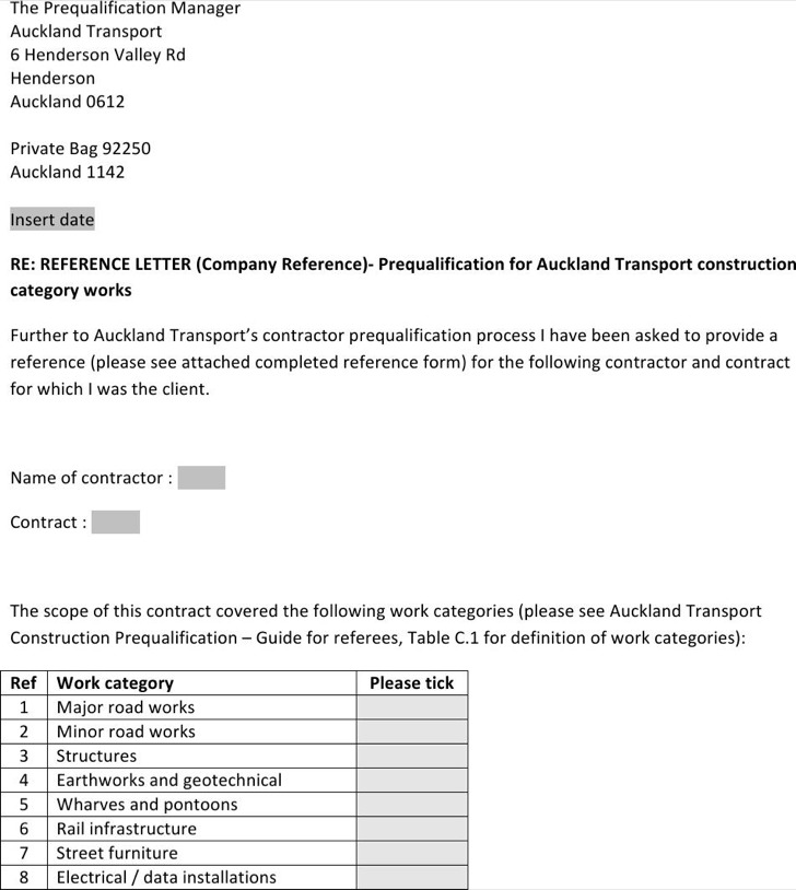 6+ Sample Business Reference Letter Templates Free Download
