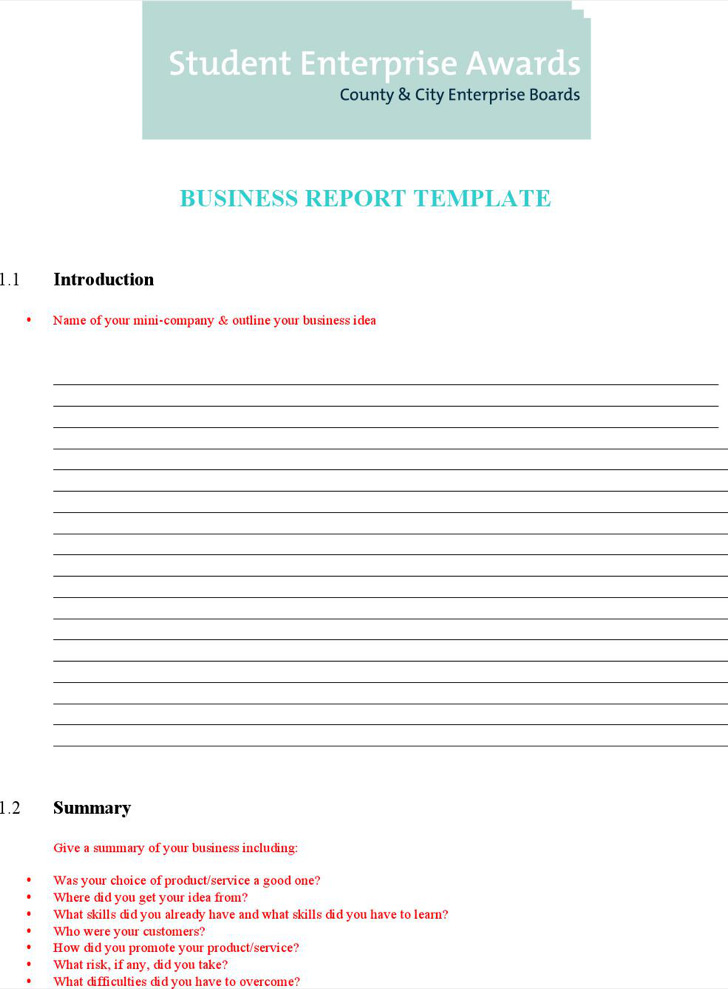 8+ Word Report Templates Free Download