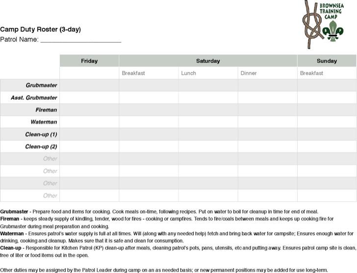 duty roster template - Mavij-plus