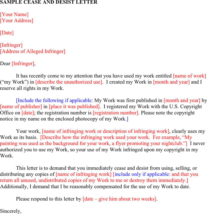 3+ Cease and Desist Template Free Download - Cease And Desist Template
