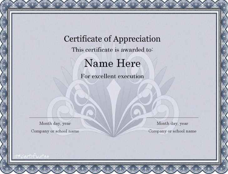 41+ Microsoft Word Certificate Templates Free Download