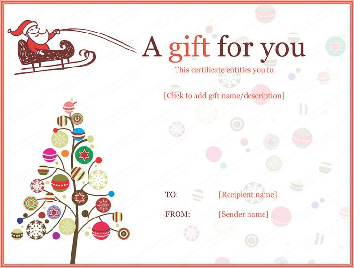 16+ Christmas Gift Certificate Templates Free Download