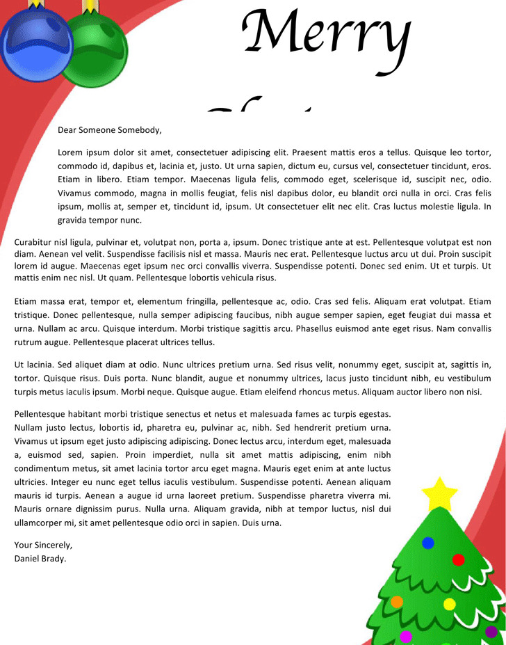 3+ Christmas Letterhead Template Free Download