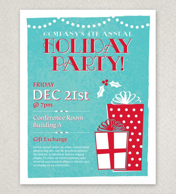16+ Holiday Party Flyer Templates Free Download