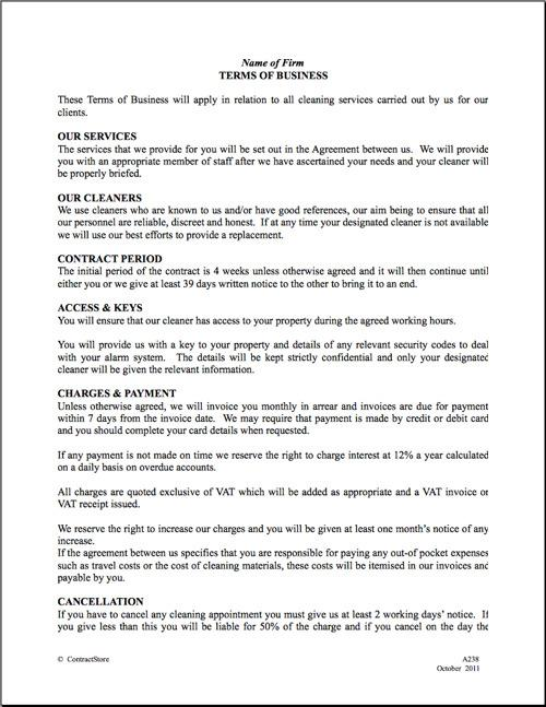 Download Cleaning Contract Template for Free - TidyTemplates